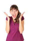 dziewczyna szczęśliwa bardzo Obraz Stock