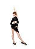 Dziewczyna tanczy łacińskich tanów Zdjęcia Royalty Free