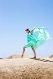 Dziewczyna taniec w wiatrze Zdjęcie Stock