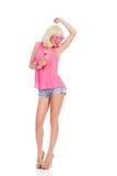 Dziewczyna taniec z napojem Fotografia Royalty Free