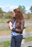 dziewczyna target1573_0_ smutny nastoletniego Fotografia Royalty Free