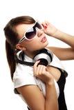 Dziewczyna target1038_1_ muzyka Zdjęcia Stock