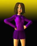dziewczyna target1105_0_ szokujący nastoletniego Fotografia Stock