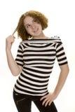 dziewczyna target1398_0_ nastoletni oddolnego fotografia stock