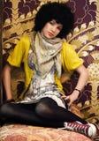 dziewczyna target1892_0_ retro nastoletniego Obrazy Royalty Free