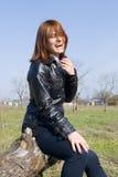 dziewczyna target2272_0_ głośno karpę Zdjęcia Stock