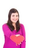 dziewczyna target2577_1_ nastoletniego valentine Zdjęcie Royalty Free