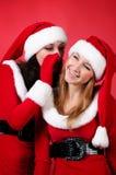 dziewczyna target332_0_ wo potomstwa szczęśliwy Santa Zdjęcia Royalty Free