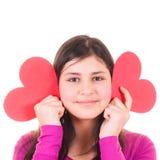 dziewczyna target3428_1_ nastoletnich valentines Obraz Royalty Free