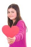 dziewczyna target3442_1_ nastoletniego valentine Obrazy Stock