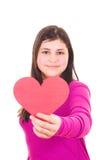 dziewczyna target3489_1_ nastoletniego valentine Obrazy Royalty Free
