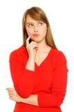 dziewczyna target52_0_ patrzeć Zdjęcie Royalty Free
