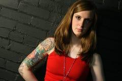 dziewczyna tatuaż zdjęcia stock