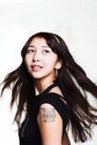 dziewczyna tatuaż Obrazy Stock