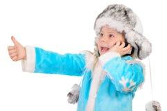 dziewczyna telefon mówi Fotografia Stock