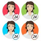 Dziewczyna telefoniczny operator 24 Obraz Stock