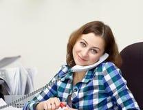 dziewczyna telefony Zdjęcie Stock