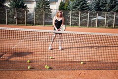 dziewczyna tenis Zdjęcie Royalty Free