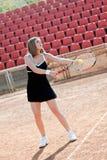 dziewczyna tenis Obraz Royalty Free