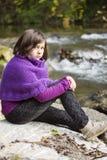 dziewczyna 2th lat confusedly zdjęcia royalty free