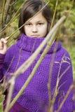 dziewczyna 2th lat confusedly obrazy royalty free