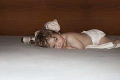 dziewczyna trochę śpiąca Obrazy Royalty Free