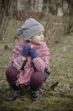 dziewczyna trochę plenerowa Obraz Royalty Free