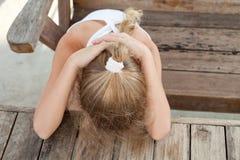 dziewczyna trochę smutna Obrazy Stock