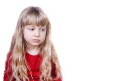 dziewczyna trochę smutna Zdjęcie Royalty Free