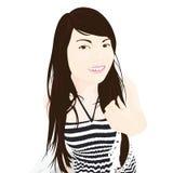 Dziewczyna uśmiechu podawca na białym tle Obraz Stock
