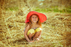 Dziewczyna uśmiechy i szczęśliwy Zdjęcie Royalty Free