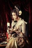 Dziewczyna ubierająca w stylu rokoko Zdjęcie Stock