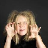 dziewczyna ubrana jak troll Halloween. Obraz Stock