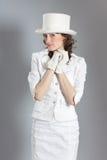 dziewczyna ubraniowy rocznik Obraz Royalty Free