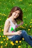 Dziewczyna w łące Obraz Stock