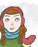 Dziewczyna w śniegu Obrazy Royalty Free