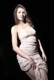 Dziewczyna w światło sukni Zdjęcie Royalty Free