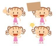 Dziewczyna w akcjach Szczęśliwy Obrazy Royalty Free