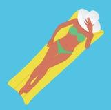 Dziewczyna w basenie Obrazy Stock
