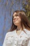 Dziewczyna w białej bluzce Obraz Royalty Free