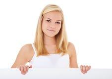 Dziewczyna w bieliźnie za placeholder Zdjęcie Stock