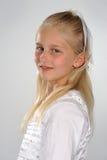 Dziewczyna w bielu Obrazy Royalty Free