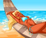 Dziewczyna w bikini ilustracja wektor