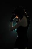 Dziewczyna w boks pozie Obraz Stock