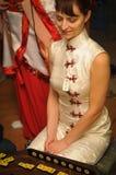 Dziewczyna w chińczyk sukni Zdjęcie Royalty Free