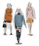 Dziewczyna w ciepłym pulowerze Obrazy Stock