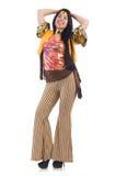 Dziewczyna w colourful latynos sukni odizolowywającej na Obraz Royalty Free