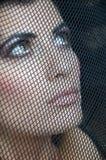 Dziewczyna w czarnej przesłonie Obraz Royalty Free