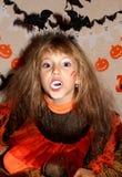 Dziewczyna w czarownica kostiumu Obraz Stock