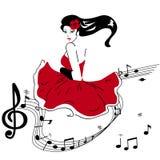 Dziewczyna w czerwieni Obrazy Stock